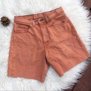 Levi's 560 Vintage Rust Cutoff Jeans 32